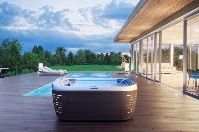 J-585 Outdoor Hot Tub Installation