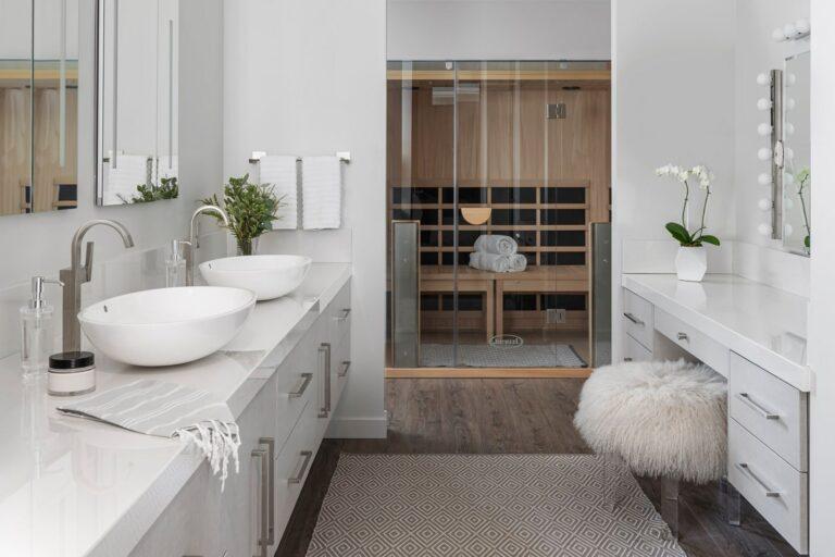 Jacuzzi Infrared Sauna Bathroom Installation