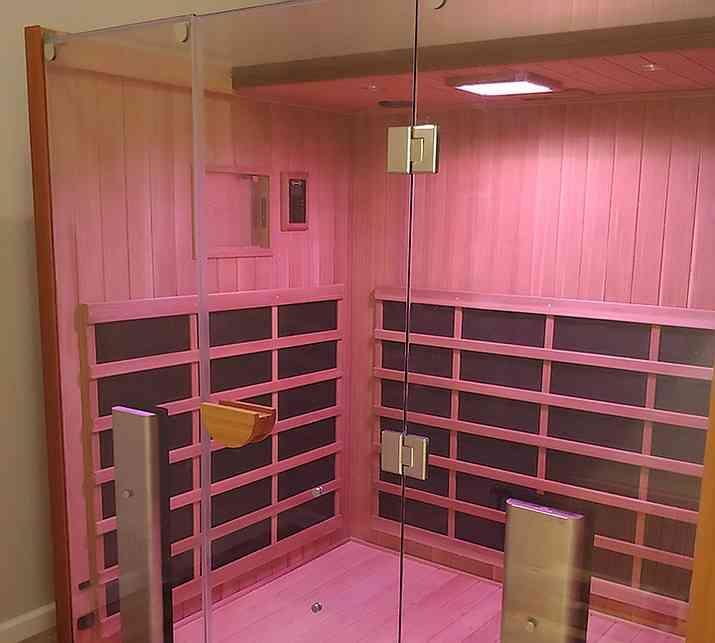 Jacuzzi Sanctuary Infrared Sauna LED lighting