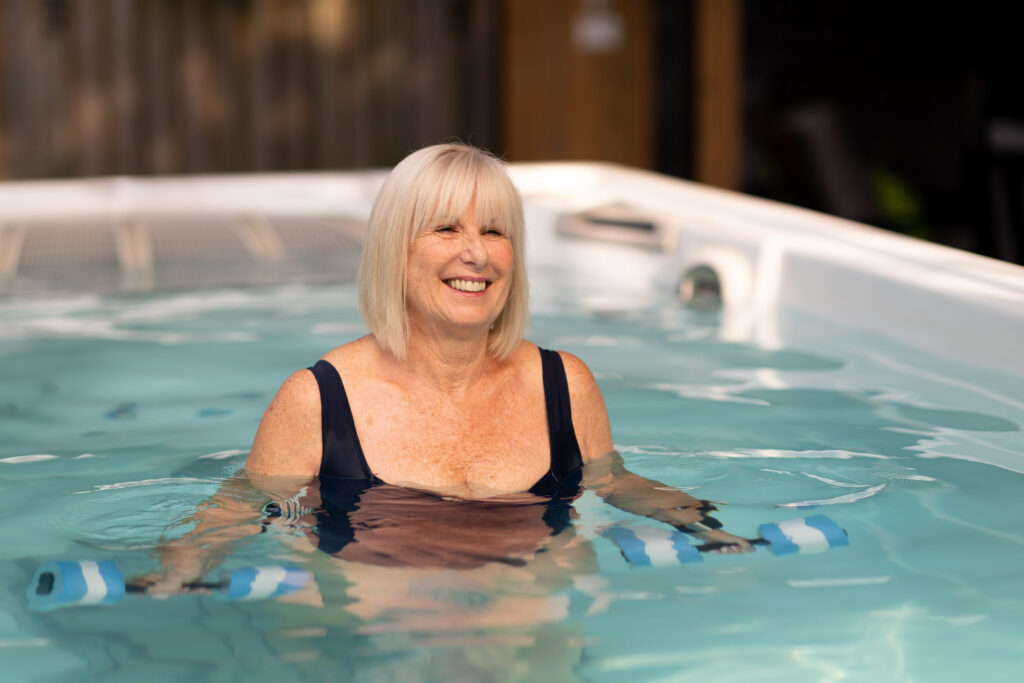Self-Care with Hydropool swim spas exercise in pool