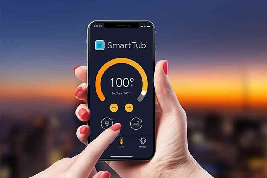 SmartTub control features for Jacuzzi hot tubs